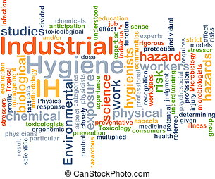 Industrial Hygiene IH background concept - Background...