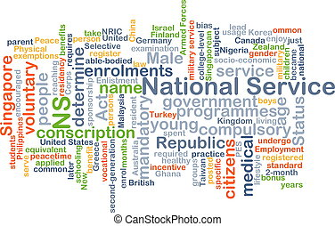 National service background concept - Background concept...
