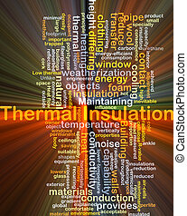 Thermal insulation background concept glowing - Background...