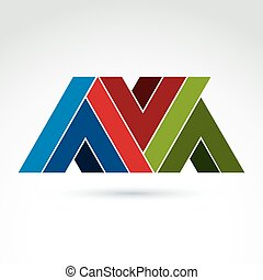 Vector abstract element created from checkmarks and V signs...