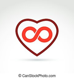 Vector infinity icon, eternal life idea Illustration of an...