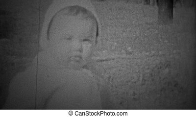 CHICAGO - 1942: Young child - Unique vintage 8mm film home...