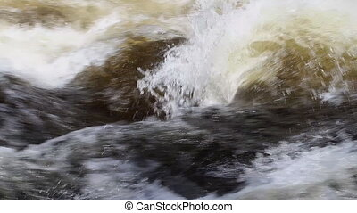 The power of water - spring flow - Rapidly flowing water...