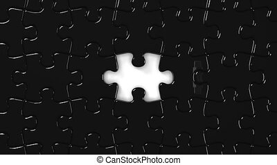 Black Puzzle That Changing To White