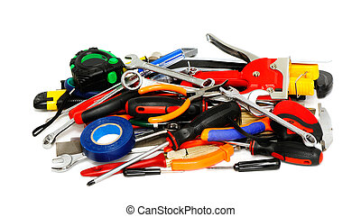 tools on a white background...