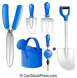 Gardening tools - Gardening set of tools and equipment