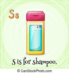 Shampoo - Flashcard letter S is for shampoo