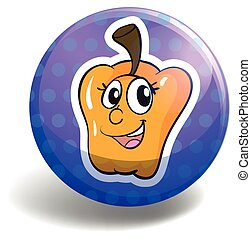 Bell pepper - Yellow bell pepper on blue badge