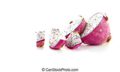 Pitaya or Dragon Fruit isolated on white background.