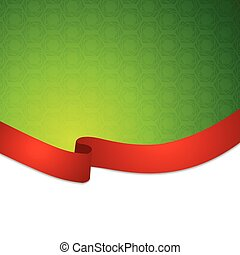 Red tape ribbon background. Vector design