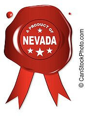A Product Of Nevada - A wax seal with a the text A Product...