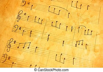 gammal, musik, ark