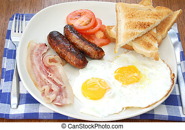 Full english breakfast - Traditional english fried breakfast...