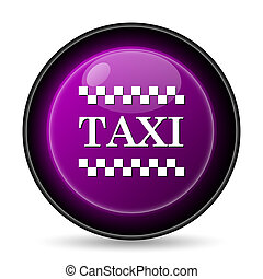 Taxi icon. Internet button on white background.