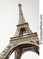 Eiffel tower - Exquisite ironwork details of Eiffel tower,...