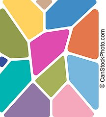 Stained glass, abstract background for your design. Vector...