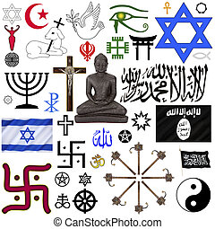 Religious Symbols - Isolated - A selection of Religious...