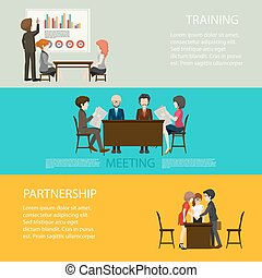 Business style infographic with people