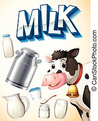Milk, cow and dairy foods