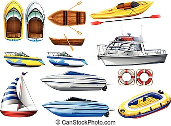 Boats and varying sizes - Boats of varying sizes...