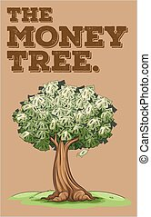 Money growing on a tree illustration