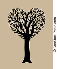 Love Tree, art vector design