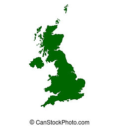 United Kingdom Map - Isolated map of United Kingdom of...