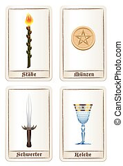 Tarot Cards Elements German - Tarot card colors or elements...