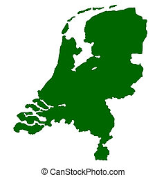 Netherlands - Map of Netherlands isolated on white...