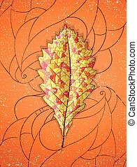 Autumn colorful leaf Illustration 10 version