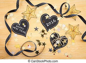 Kleine Tafeln mit Weihnachtsdeko - Kleine Tafeln in Herzform...