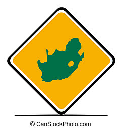 South Africa map sign