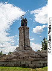 Soviet Army Monument in Sofia, Bulgaria - Soviet Army...