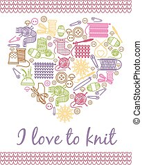 I love knitting heart