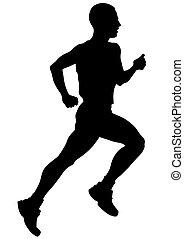 Athletes man - Athletes running on a white background
