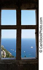 Window View Mediterranean Sea