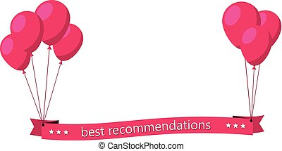 Best recommendations pink flat ribbon with balloons - Best...