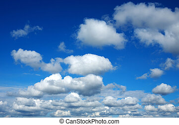 blue sky with white clouds in a precious day