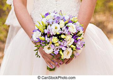 wedding bouquet, bridal bouquet, beautiful bouquet of...