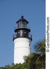 The historical Key West Lighthouse, Florida USA