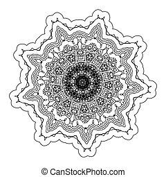 Vector Beautiful Deco Black Mandala - Vector beautiful deco...