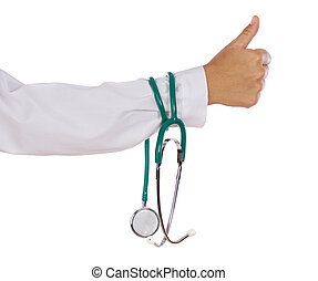 stethoscope in hand