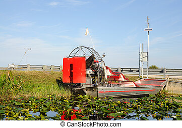 Airboat in Everglades National Park, Florida USA
