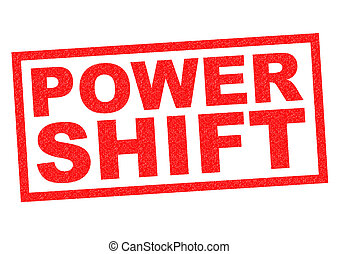 POWER SHIFT red Rubber Stamp over a white background.