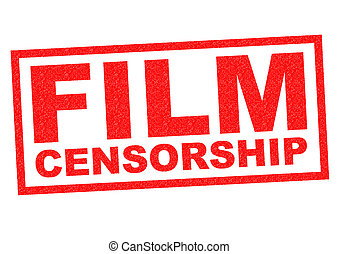 FILM CENSORSHIP red Rubber Stamp over a white background.