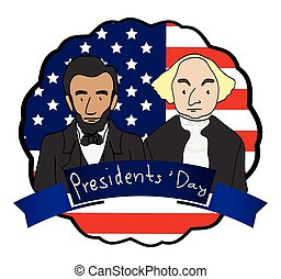 Vector of George Washington & Abraham Lincoln Clip-Art Cartoon ...
