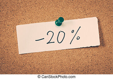20 twenty percent off