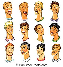 Male faces - Expressions - Male faces - set of Expressions...