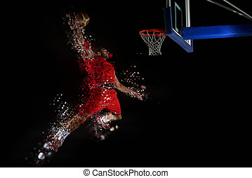design of basketball player in action - design of jumping...
