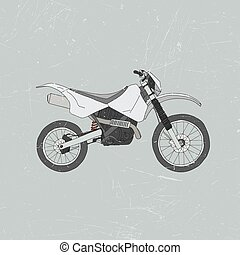 Enduro bike, motocross - Vector illustrations of Enduro bike...